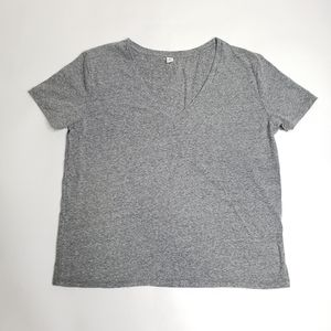 BP v neck loose fitting basic grey tee shirt